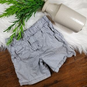 Carter's Stripe Shorts | sz 24m | gray | white